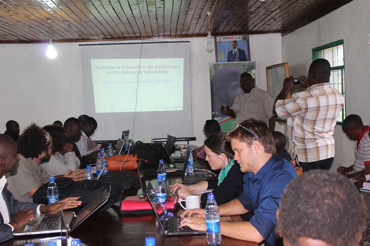 Introduction des activités de Primate Expertise (PEx) aux partenaires du Parc National de Kahuzi-Biega (PNKB)