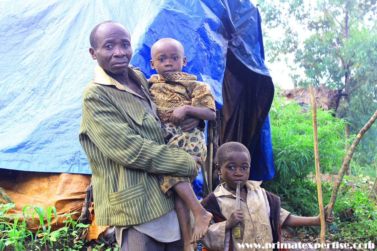 Le villages riverains, près du parc national de Kahuzi-Biega (PNKB), dans l'est de la République démocratique du Congo, vivent dans la misère d'une population autochtone pygmée